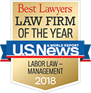 Best Lawyers Law Firm of the Year 2018