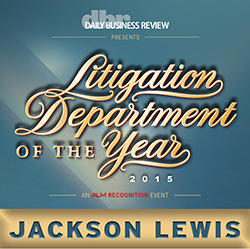 Daily Business Review - Litigation Department of the Year 2015