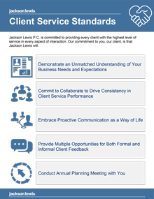 Download our Client Service Standards