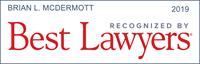 Best Lawyers Award Badge - Brian L. McDermott