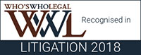 Who's Who Legal - Recognized in Litigation 2018 - Ralph C. Losey