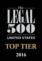 Legal 500 2016 - Top Tier